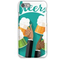 Cheers festive toasting hands with mugs of beer iPhone Case/Skin