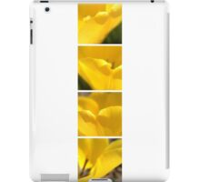 Macro Yellow Tulip Petals Collage iPad Case/Skin