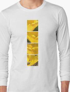 Macro Yellow Tulip Petals Collage Long Sleeve T-Shirt