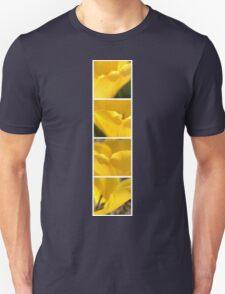 Macro Yellow Tulip Petals Collage Unisex T-Shirt
