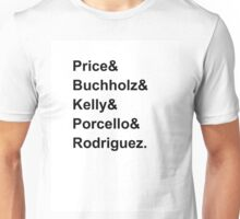 Red Sox Starting Rotation 2016 Unisex T-Shirt