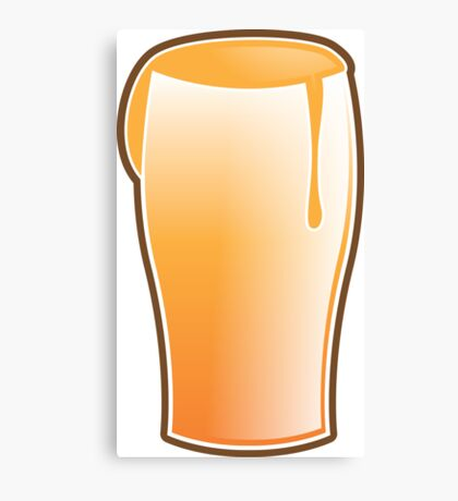Beer drink glass Canvas Print