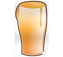 Beer drink glass Poster