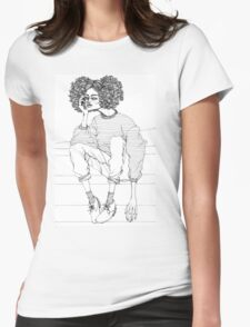 exhaustion club #1 Womens Fitted T-Shirt