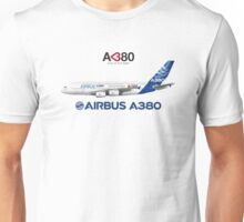 "Illustration of Airbus A380 ""Love at First Flight""  Unisex T-Shirt"