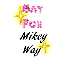Gay for Mikey Way Photographic Print