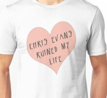 Chris Evans ruined my life Unisex T-Shirt