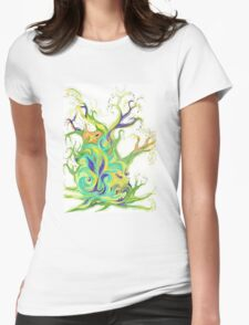 Energy Tree - Rising Sap - Natural Art Womens Fitted T-Shirt