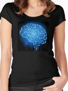 PCB Brain Women's Fitted Scoop T-Shirt