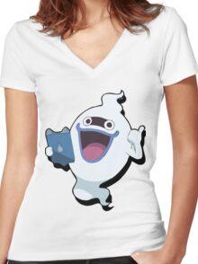 Yokai Watch : Whisper 3 Women's Fitted V-Neck T-Shirt