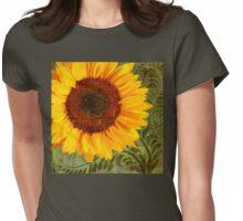Summer Sun Verdant Afternoon Sunflower Garden Womens Fitted T-Shirt