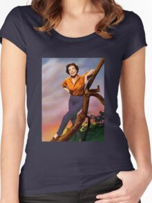 Colorized Joan Crawford 1964 Women's Fitted Scoop T-Shirt
