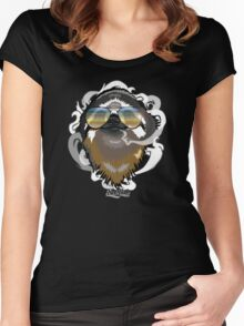 #stonersloth Women's Fitted Scoop T-Shirt