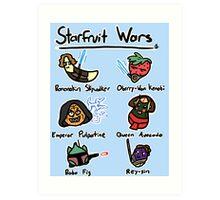 Starfruit Wars Art Print
