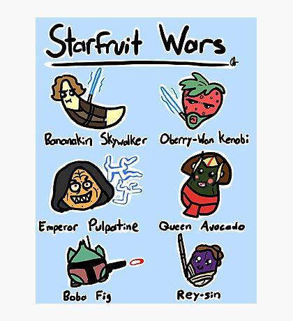 Starfruit Wars Photographic Print
