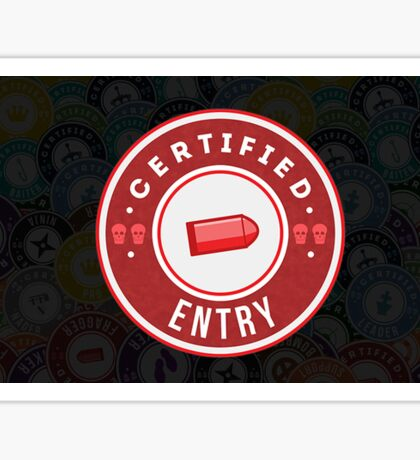 Certified Entry Sticker
