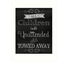 Humorous Chalkboard typography business decor Art Print