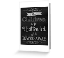 Humorous Chalkboard typography business decor Greeting Card