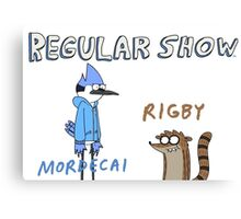 Regular Show Rigby and Mordecai Canvas Print