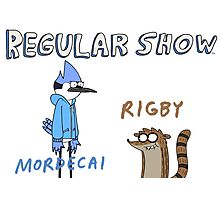 Regular Show Rigby and Mordecai Photographic Print