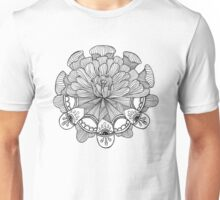 Mandala - Third Eye Flower Unisex T-Shirt