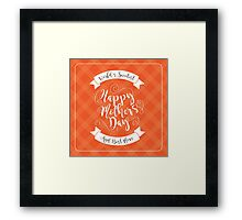 Happy Mothers Day swirly type design Framed Print