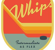 Whips Retro Hockey Patch by benjamagnus