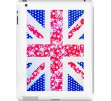 Union Jack with vintage flowers and polka dots iPad Case/Skin