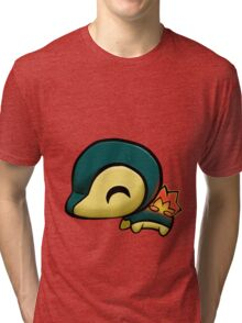 My little Cyndaquil - with flame Tri-blend T-Shirt
