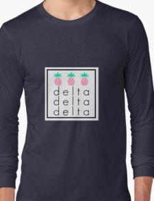 Tri Delta Tri Pineapple Long Sleeve T-Shirt