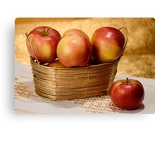 Apples in Gold Canvas Print