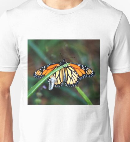 Monarch Butterfly Emerges From A Chrysalis Unisex T-Shirt