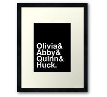 Scandal goes Helvetica Framed Print