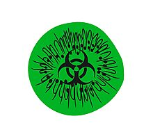 half half cut pattern kiwi fruit tasty toxic biohazard symbol poisoned disgusting biological weapon Photographic Print