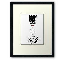 Catwoman Returns Framed Print