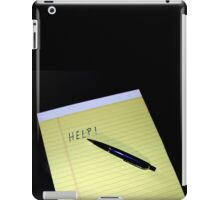 Notepad Pen Help iPad Case/Skin