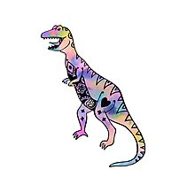 Crazy Dinosaur Photographic Print