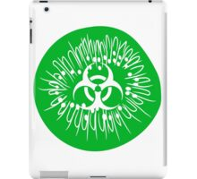 half half cut pattern kiwi fruit tasty toxic biohazard symbol poisoned disgusting biological weapon iPad Case/Skin