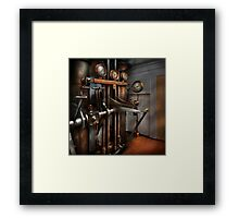 Steampunk - Controls - The Steamship control room Framed Print