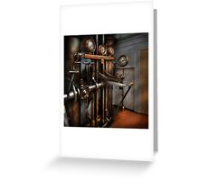 Steampunk - Controls - The Steamship control room Greeting Card