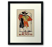 Vintage Spanish Poster Framed Print