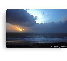 Woolacombe Sunset. #1 Canvas Print