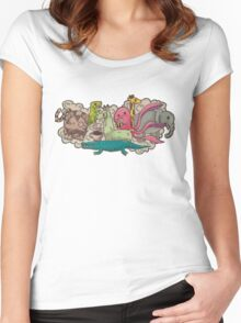 Animal Party Women's Fitted Scoop T-Shirt