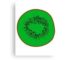 half half cut pattern kiwi fruit tasty Canvas Print