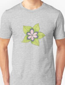 big pink, green and blue flower T-Shirt