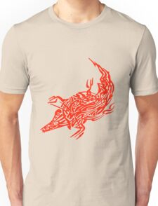 Abstract Red Crocodile Unisex T-Shirt