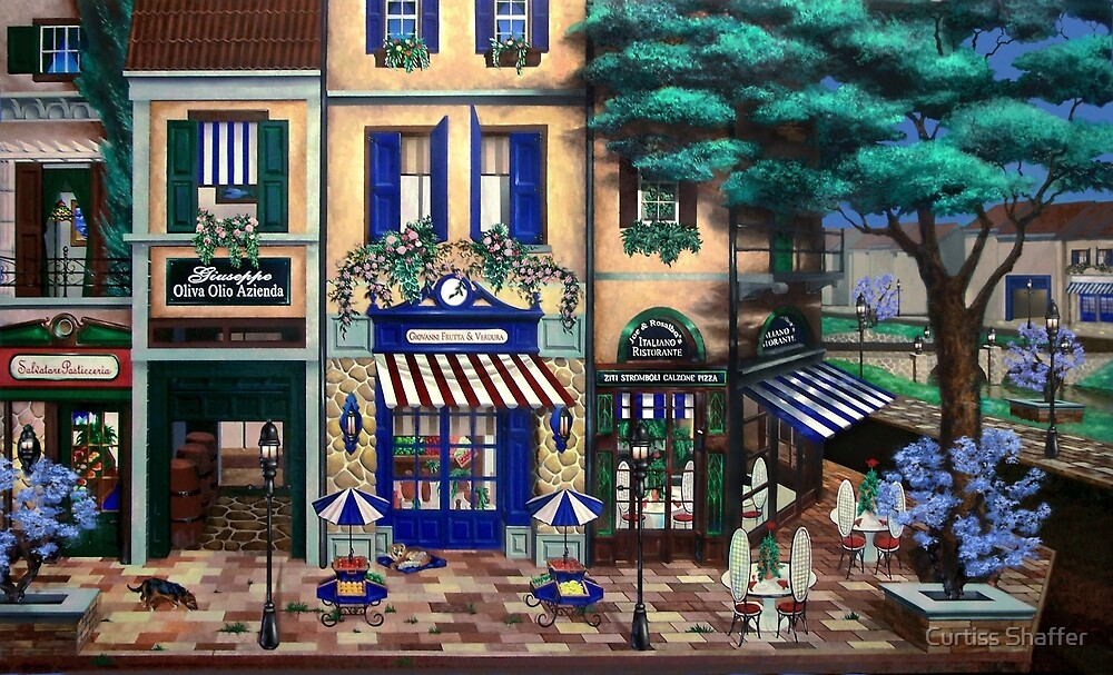 Italian Cafe by Curtiss Shaffer