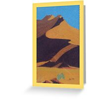 Desert Dune Pastel Art - Namib Greeting Card