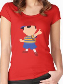 Ness - Super Smash Bros. Women's Fitted Scoop T-Shirt
