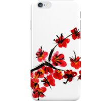 Pink flowers of cherry iPhone Case/Skin